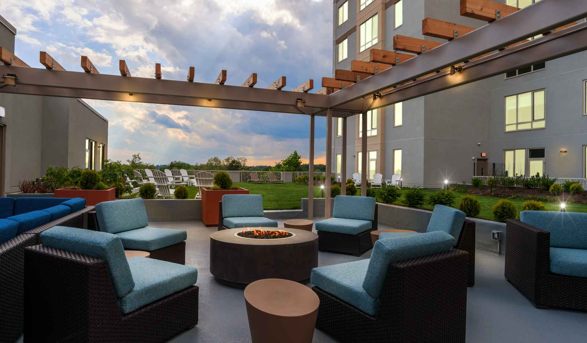 One Ardmore Apartment Homes - Ardmore, PA - Apartments and Outdoor Patio Area