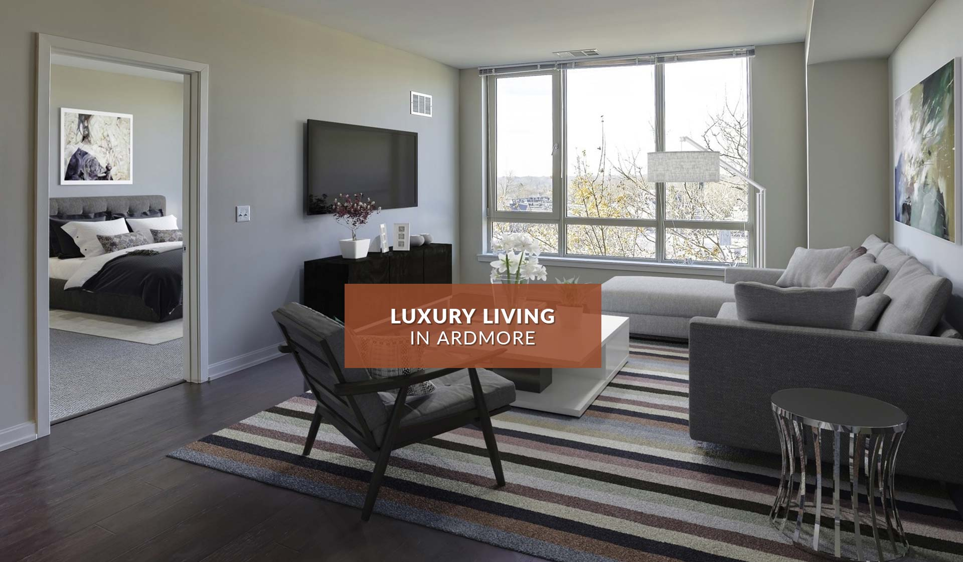One Ardmore Apartment Homes - Living Room - Ardmore, PA